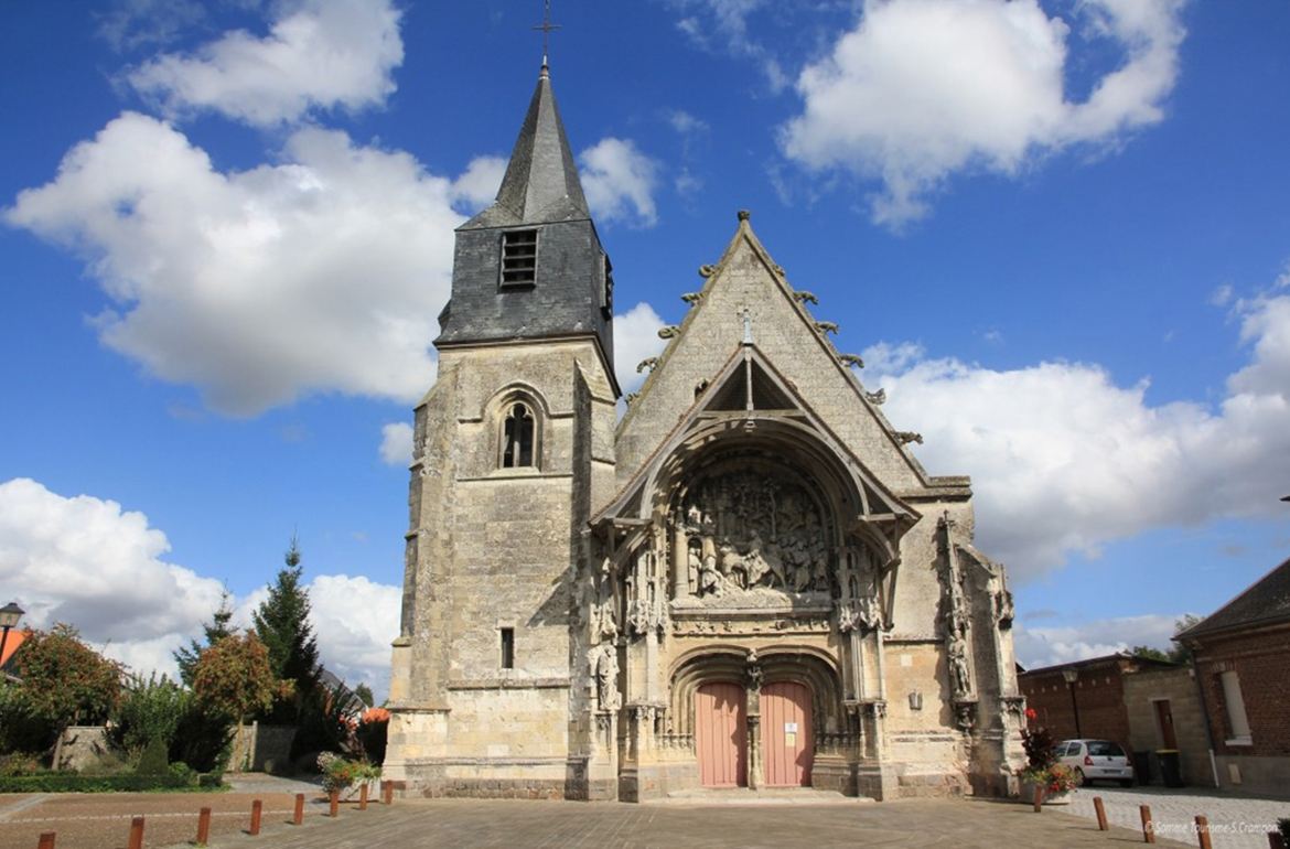 The church Notre-Dame of La Neuville in Corbie